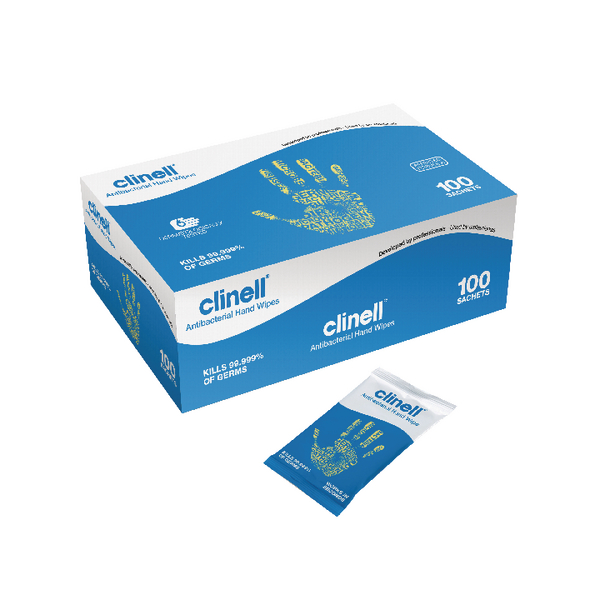 Clinell Antibacterial Hand Wipes 100 Sheets GCAHW100