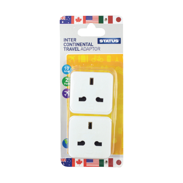 Status Intercontinental Travel Adaptor (Pack of 8) SINTERAD2Pk4