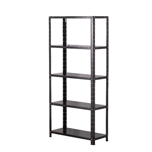 Image for Storage Solutions Light Duty Bolted 5-Shelf Unit Black ZZBS5BK150C07030