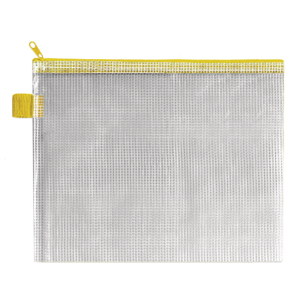 Image for BDS Handy Zip Pouch 255x205mm Yellow (Pack of 5) ZIPPER YELLOW