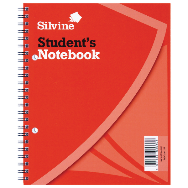 Image for Silvine Ruled Student Notebook 229x178mm 120 Pages (Pack of 12) 139