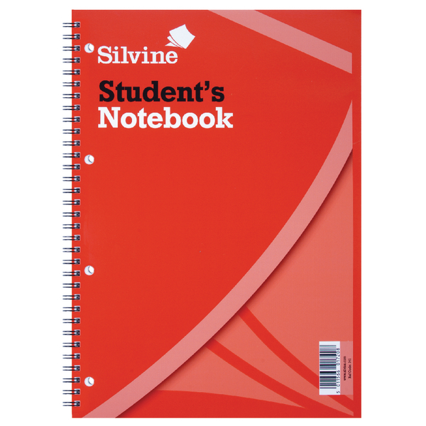 Image for Silvine Feint Ruled Student Notebook A4 120 Pages (Pack of 12) 141