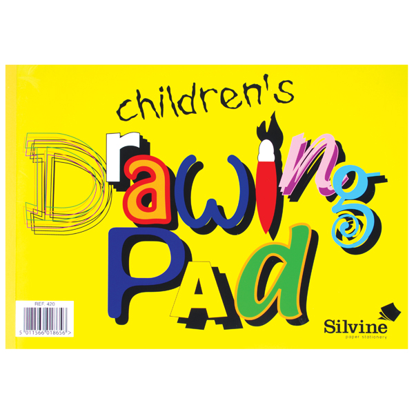 Silvine Childrens A4 Drawing Pad (Pack of 12) 420