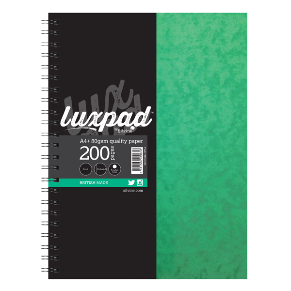 Image for Silvine Luxpad Hardback Wirebound Notebook A4 Plus (Pack of 6) SPA4FEINT