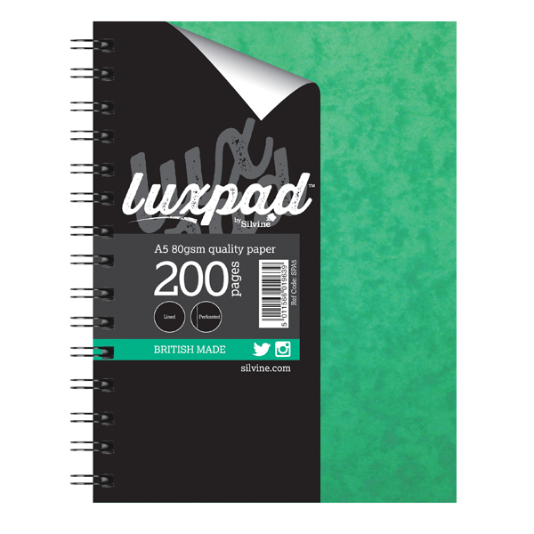 Image for Silvine Luxpad Hardback Wirebound Notebook A5 (Pack of 6) SPA5