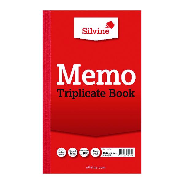 Image for Silvine Triplicate Memo Book 210x127mm (Pack of 6) 605