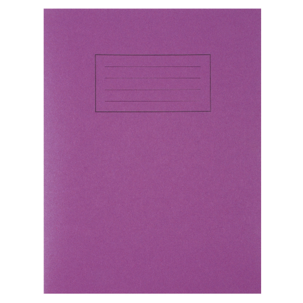 Silvine Exercise Book 229 x 178mm Ruled with Margin Purple (Pack of 10) EX100