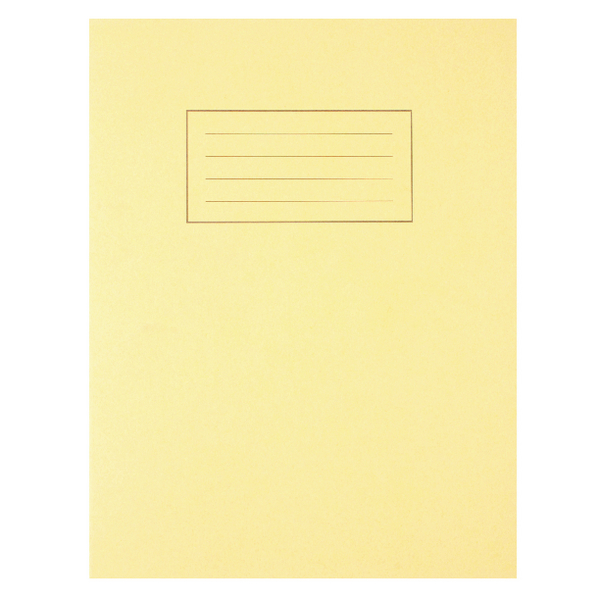 Image for Silvine Feint Ruled With Margin Yellow 229x178mm Exercise Book 80 Pages (Pack of 10) EX103