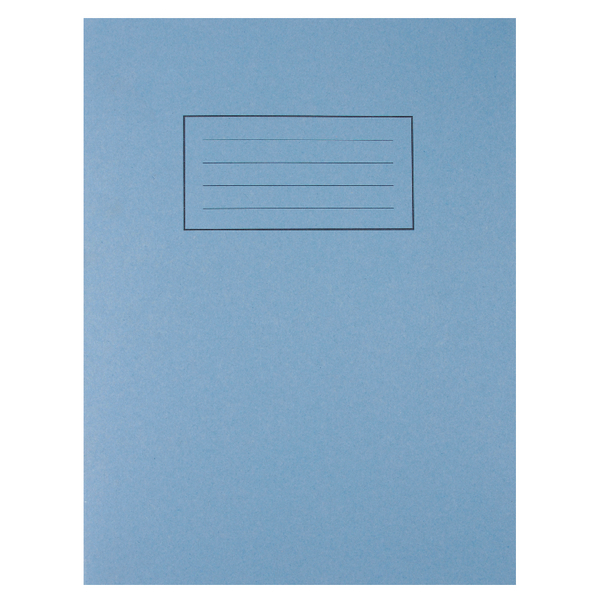 Silvine Exercise Book 229 x 178mm Ruled with Margin Blue (Pack of 10) EX104