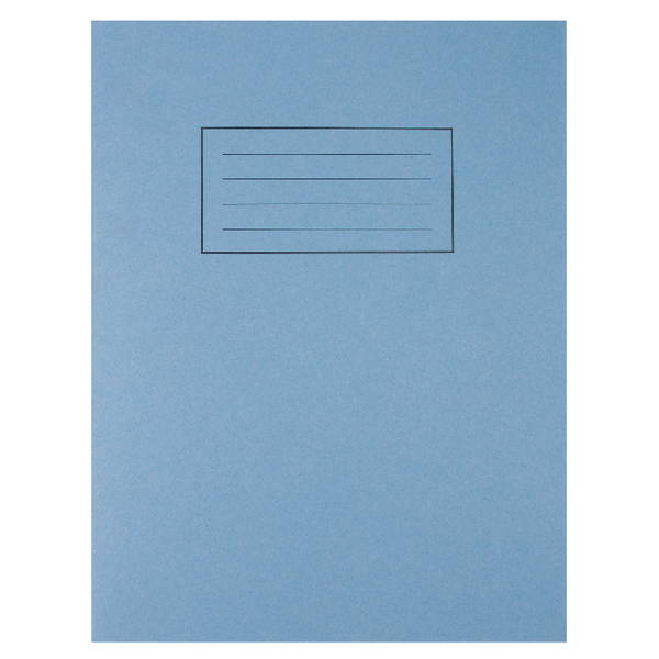 Silvine Exercise Book 229 x 178mm 7mm Squares Blue (Pack of 10) EX106