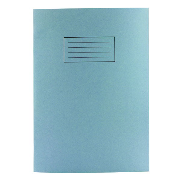 Silvine A4 Exercise Book 80 Plain Pages Blue (Pack of 10) EX114