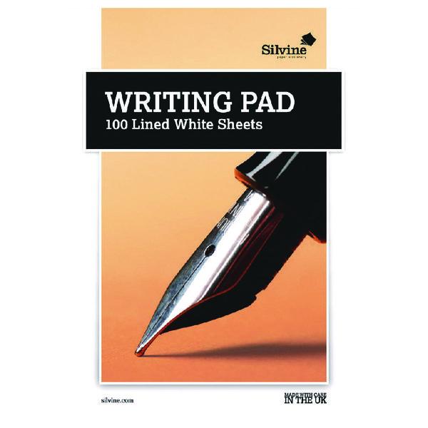 Silvine Medium Ruled Writing Pad 100 Sheet (Pack of 10) 1720