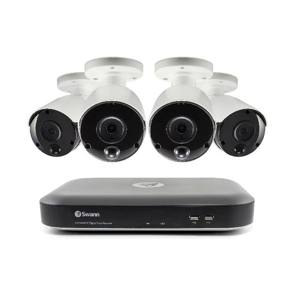 Swann 8 Channel 4 Camera DVR CCTV Kit SWDVK-847804-UK