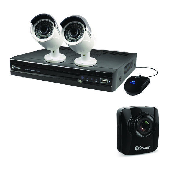 Swann 4 Channel 2 Camera NVR CCTV Kit + Free Dash Cam | Officeis Ltd
