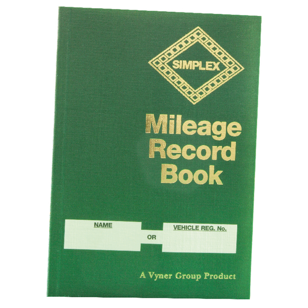 Simplex Mileage Record Book MRB