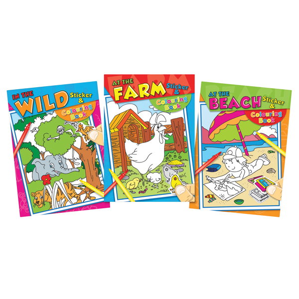 Tallon Colouring And Sticker Book (Pack of 12) 4042