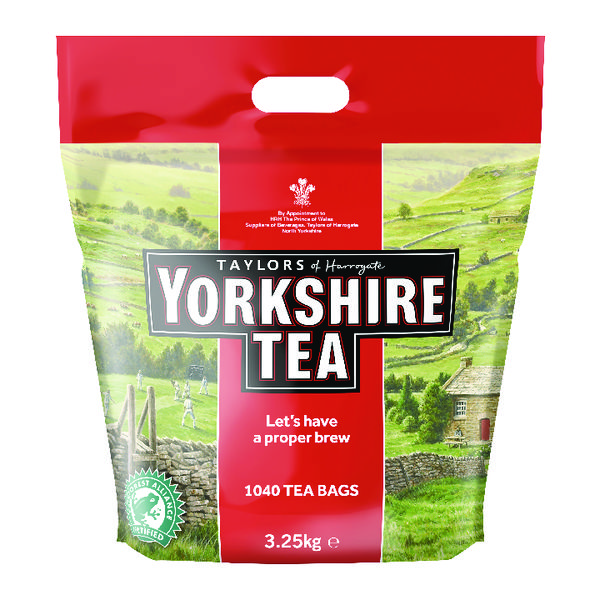Yorkshire Tea One Cup Tea Bags (Pack of 1040) 1109