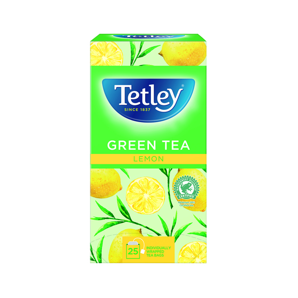 Tetley Green Tea/Lemon Tea Bags Pk25