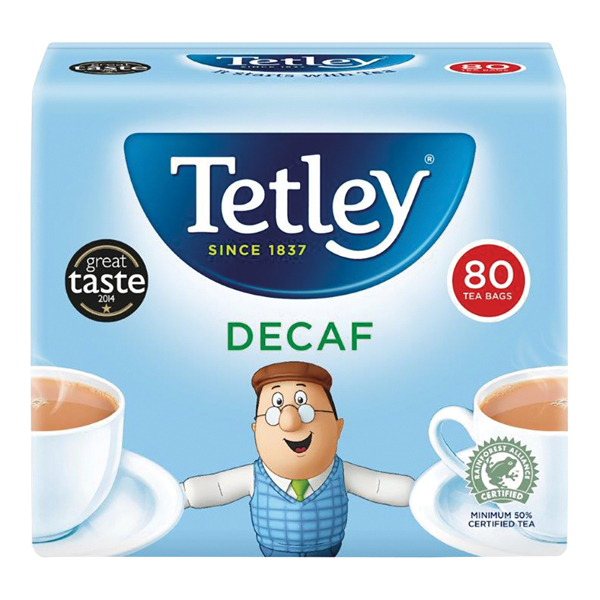 Tetley Decaffeinated Tea Bag Pk80