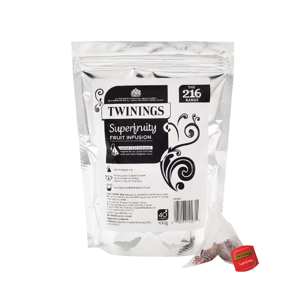 40 x Twinings Superfruity Pyramid (Blueberry, raspberry and blackcurrant infusions) F12530