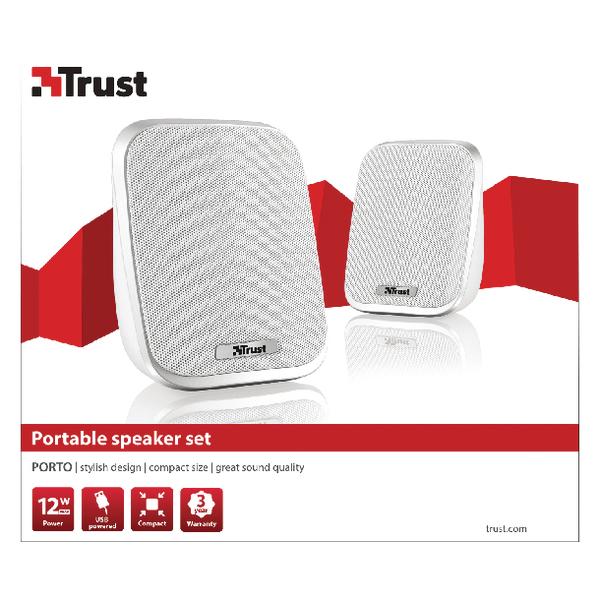 Trust portable stylish 12 Watt 2.0 speaker set (6 Watt RMS) 19912
