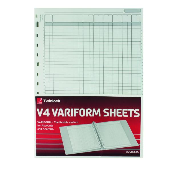 Rexel Variform V4 6-Column Cash Refill (Pack of 75) 75932