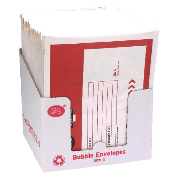 Post Office Postpak Size 5 Bubble Envelopes (Pack of 40) 41640