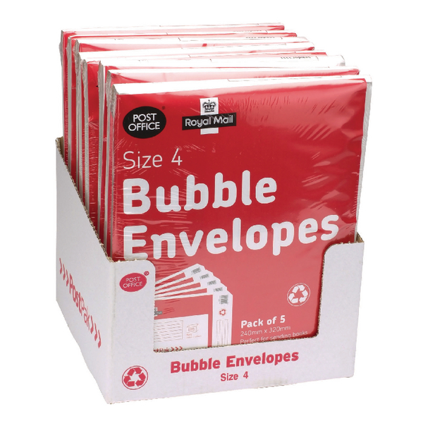 Postpak Bubble Envelope Size 4 (Pack of 40) 41632