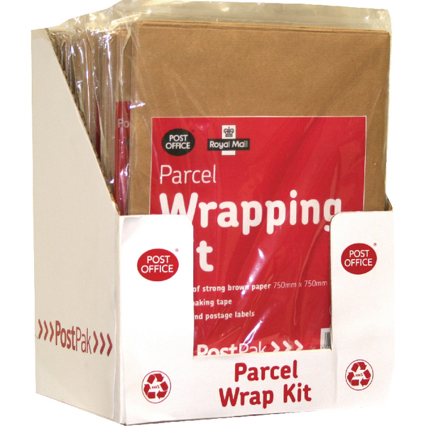 Post Office Brown Post (Pack Wrap Kit (Pack of 10) 39124016