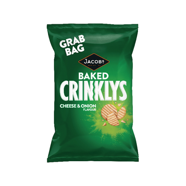 Jacobs Crinklys Cheese and Onion Grab Bag (Pack of 30) 27812