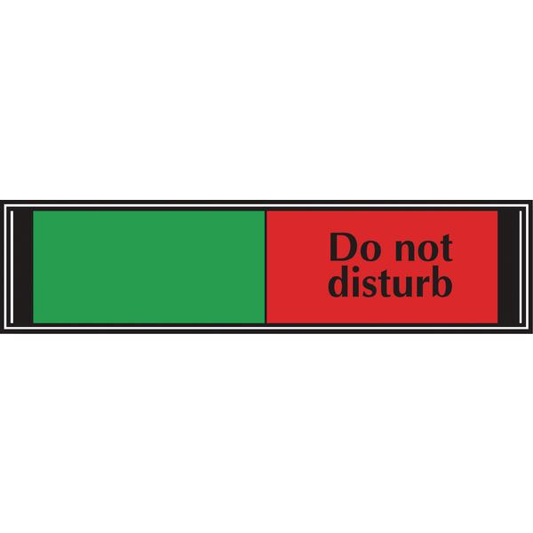 Sliding Sign Do Not Disturb 225x52mm V6DB/DD