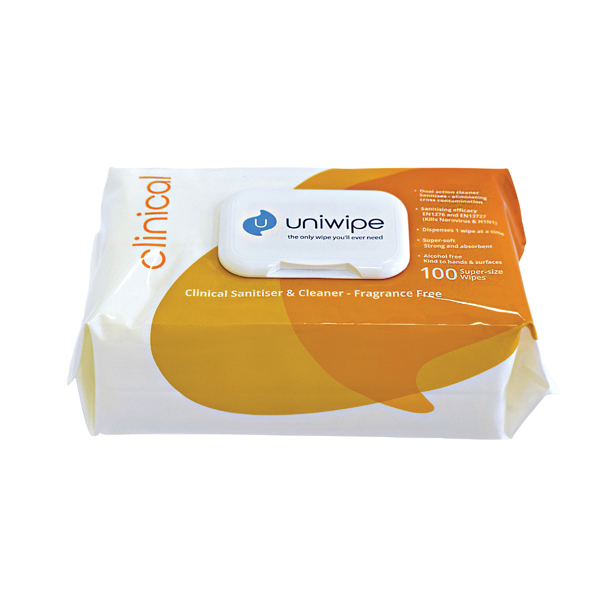 Uniwipe Clinical Wipes (Pack of 100) 5833