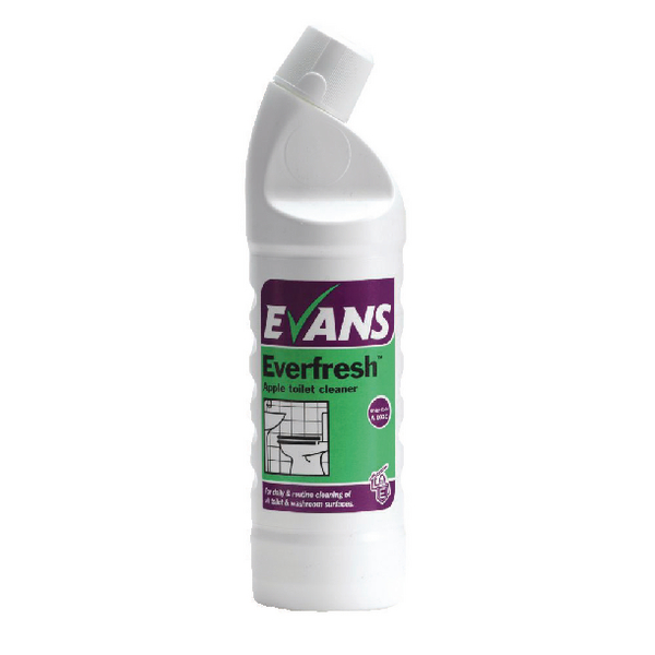 Evans Everfresh Apple Toilet Cleaner 1 Litre A103AEV