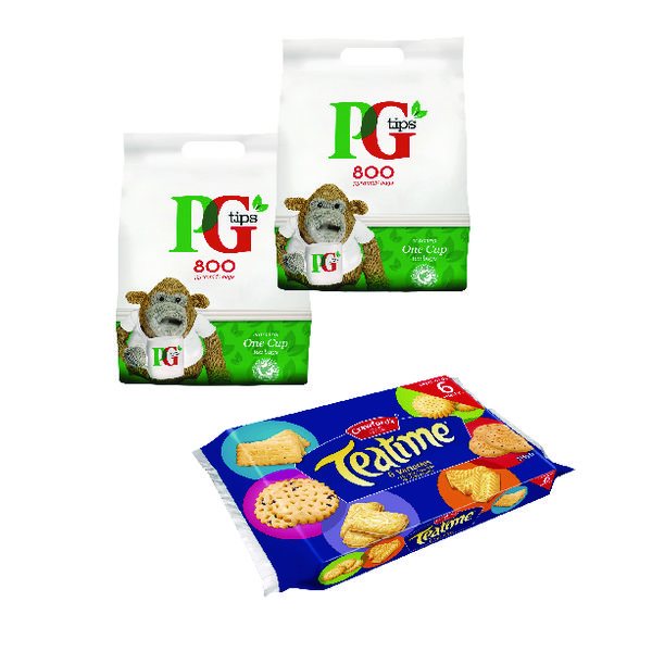 PG One Cup Pyramid Tea Bags (Pack of 800) Buy 2 Get Free Biscuits