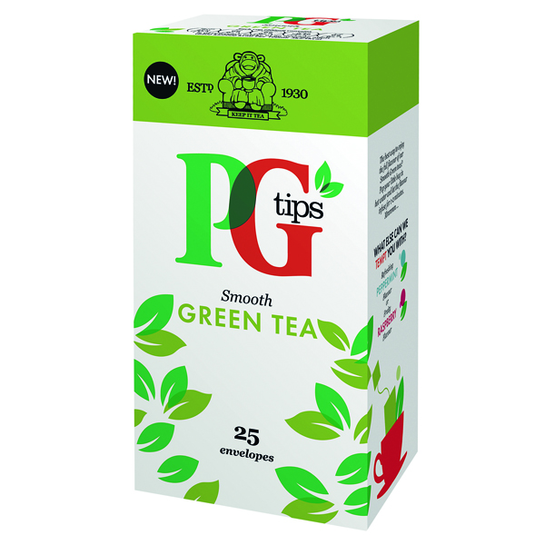 PG TIPS GREEN TEA ENVELOPE BOX 25