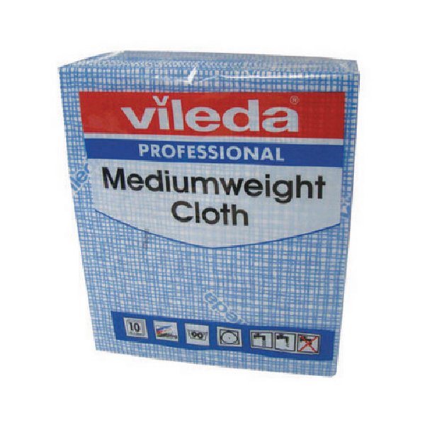 Vileda Medium Weight Cloth Blue (Pack of 10) 106399