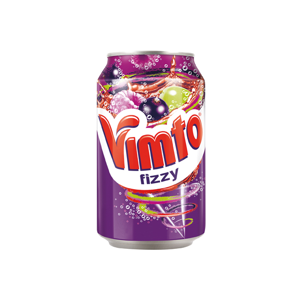 Vimto 300ml Can Carbonated Fruit Juice Drink (Pack of 24) 2000