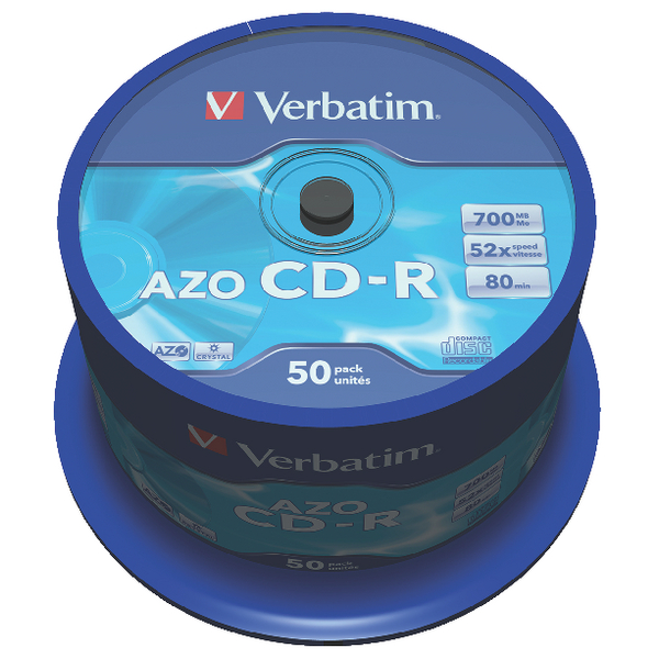 Image for Verbatim CD-R 700MB 80minutes Spindle (Pack of 50) 43343