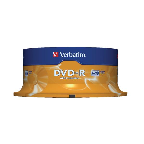 Verbatim Colour 4.7GB Slim Case DVD-R (Pack of 25) 43522