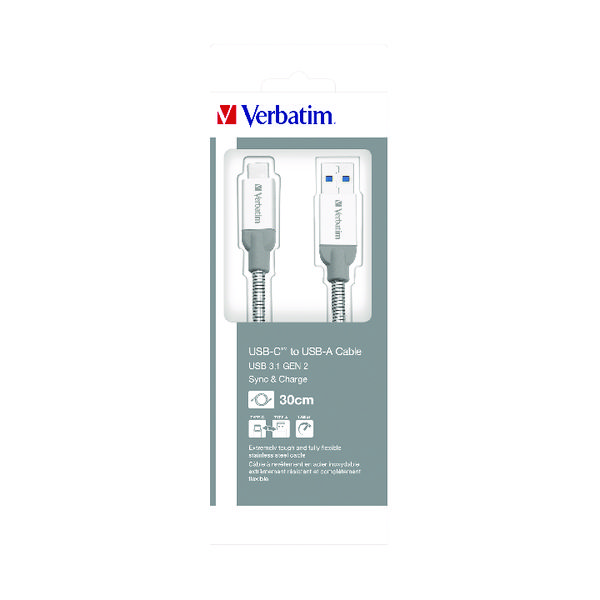 Verbatim USB-C to USB-A Cable Charger 30cm 48868