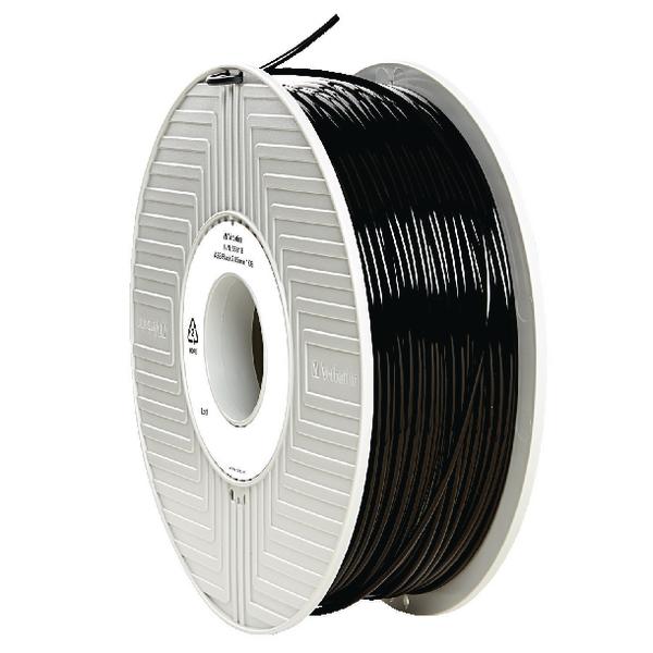 Verbatim ABS Black 3D Printing Filament Reel 2.85mm 1kg 55018