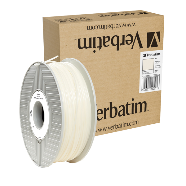 Verbatim PET Transparent 3D Printing Filament 1.75mm 500g 55751