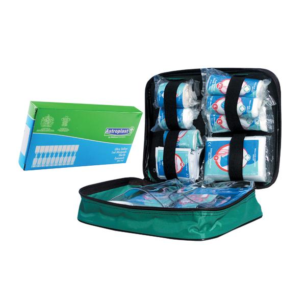 Astroplast Nylon Vehicle First Aid Kit with Free Pk10 Saline Mini Eyewash Pods 5ml