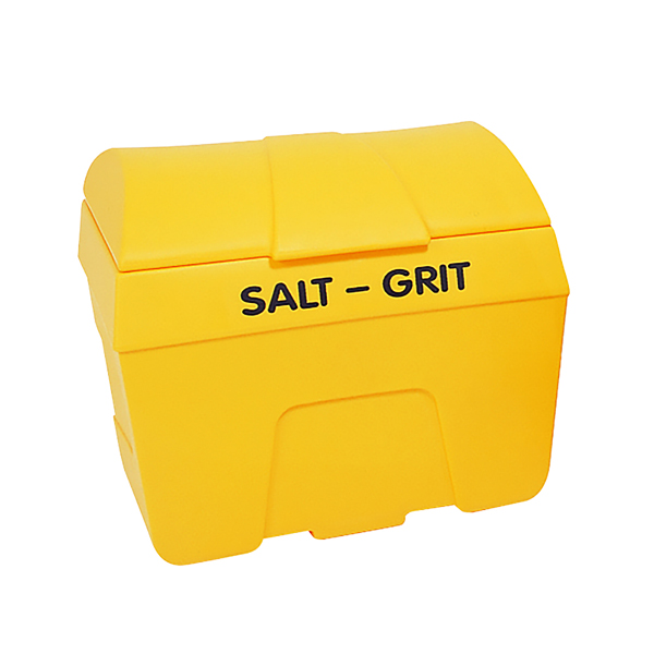 Image for Salt/Grit Bin With Hopper Feed 200 Litre Yellow 317060