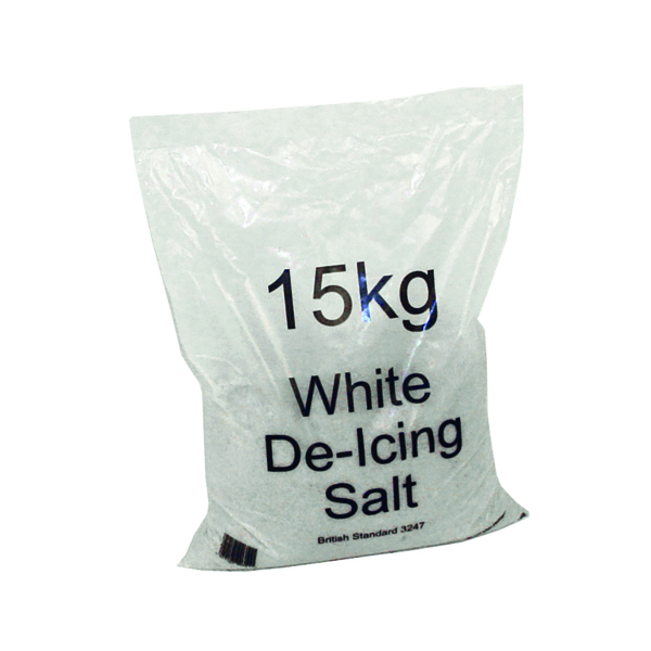 White Winter 15kg Bag De-Icing Salt (Pack of 10) 383498