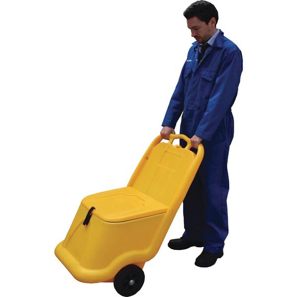 Mobile Salt and Grit Bin 75 Litre Yellow 388946