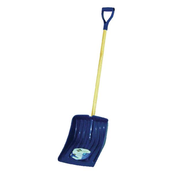 Image for Winter Snow Shovel Navy Blue (Ergonomically Designed with Polypropylene Blade) 383693