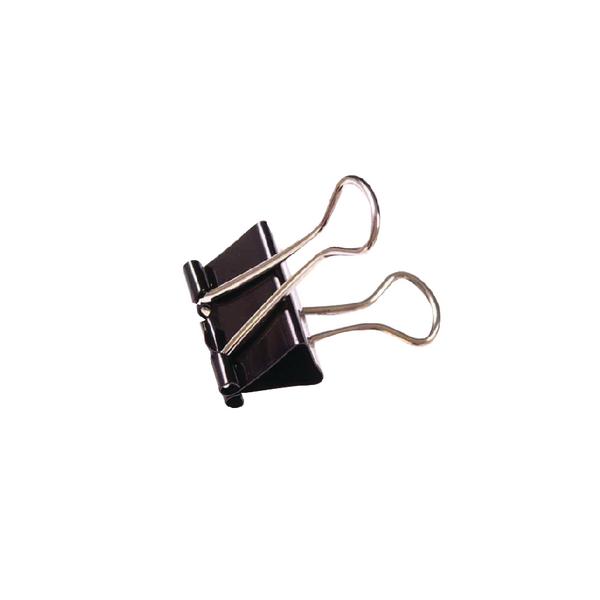 Black 19mm Foldback Clip Pk100 22481