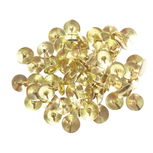 Brass Drawing Pins Brass 9.5mm (Pack of 1000) 34231