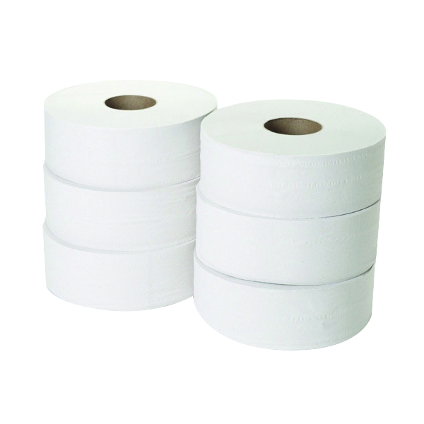 2-Ply Jumbo Toilet Roll 300 Metres (Pack of 6) JWH330